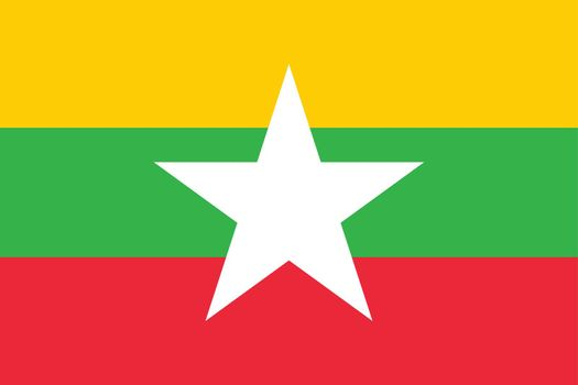 Flag of Myanmar vector illustration