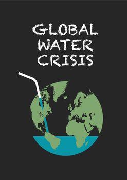 Global water crisis poster