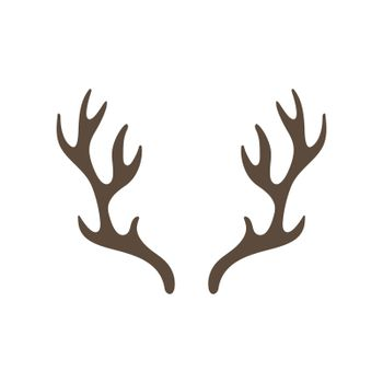 Reindeer antlers isolated on white background