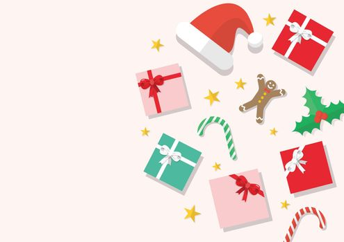 Christmas elements composition