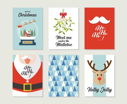 Christmas gift cards or tags with lettering