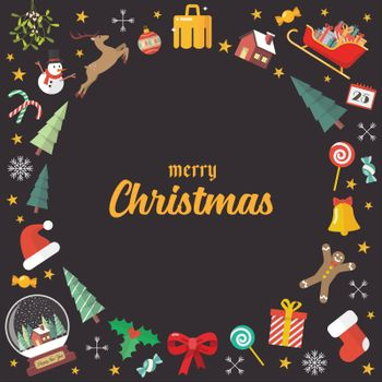 Merry Christmas decoration elements background
