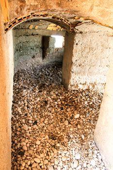Interior of a Spanish Civil War bunker on Cap Negret beach in Altea, Alicante, Spain