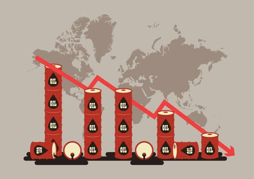 Oil price decrease chart