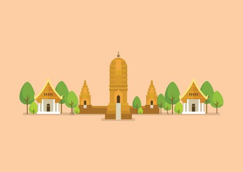 Historical ancient temple vector illustration