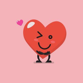 Charming heart character emoji