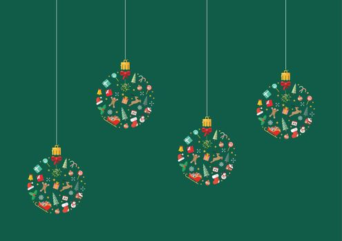 Christmas balls made of decoration elements
