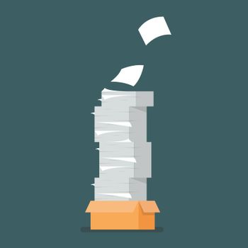 Pile of document papers
