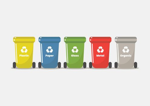 Recycle bin flat style