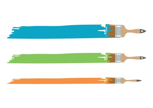 Different size paint brushes
