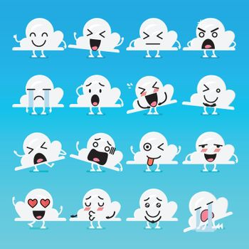 Cloud character emoji set