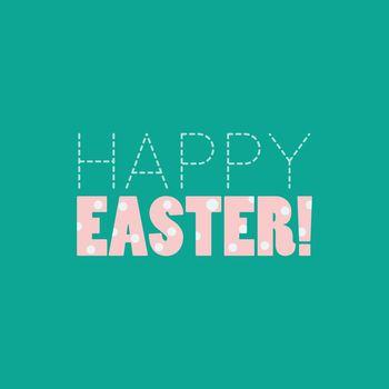 Happy Easter polka dot typographic