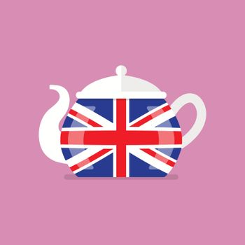 Ceramic teapot with flag of Great Britain