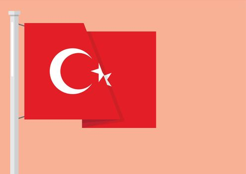 Flag of Turkey with copyspace