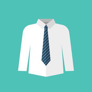 White shirt with necktie