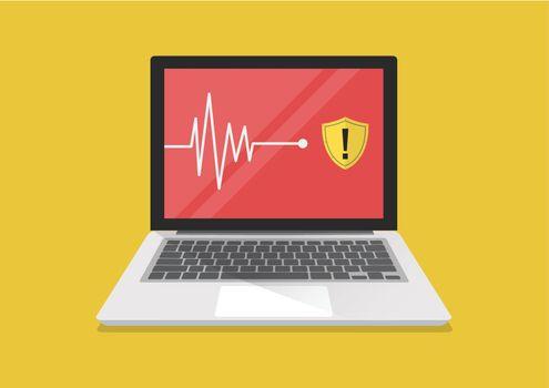 Scanning Computer Virus Concept