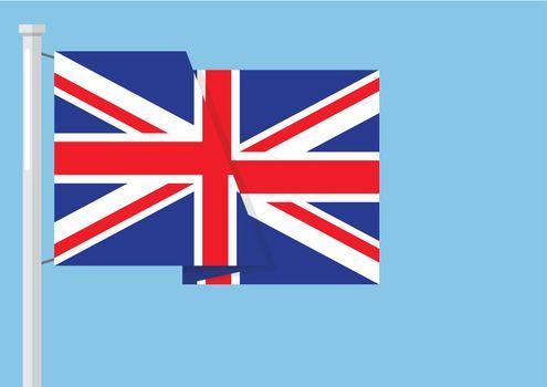 United kingdom flag with copyspace