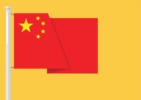 Flag of China with copyspace