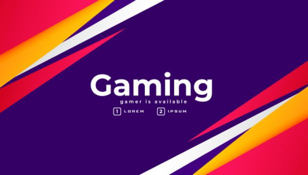 abstract geometric gaming banner design