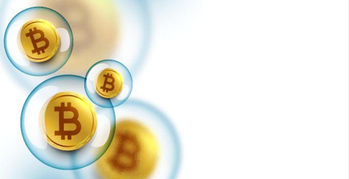 bitcoin bubble burst concept background