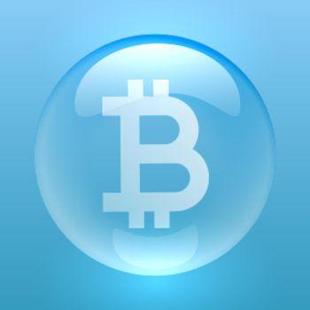 bitcoin symbol inside a bubble