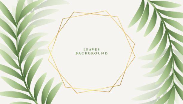 botanical green leaves background design