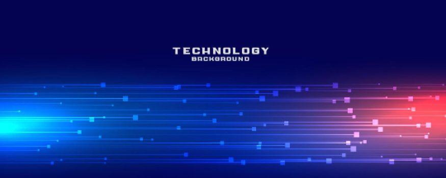 dynamic technology lines banner design