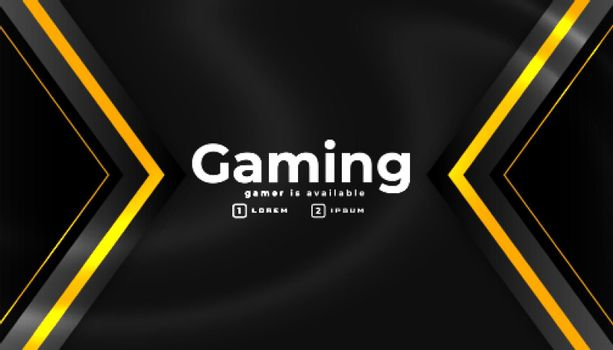 esport gaming banner in geometric style
