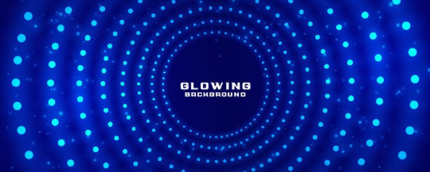 glowing radial light dots banner design