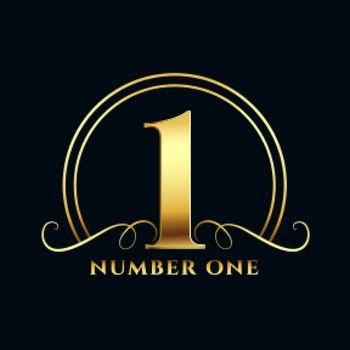 golden number one label design