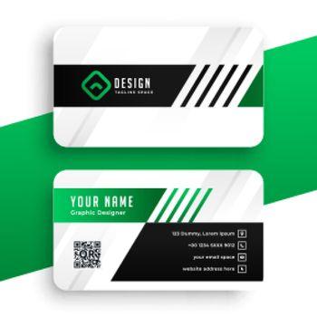 green business card modern template