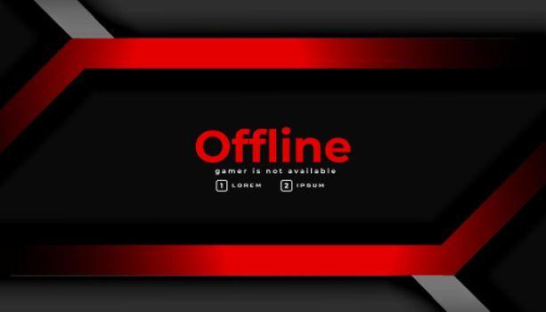 modern dark gaming offline banner background