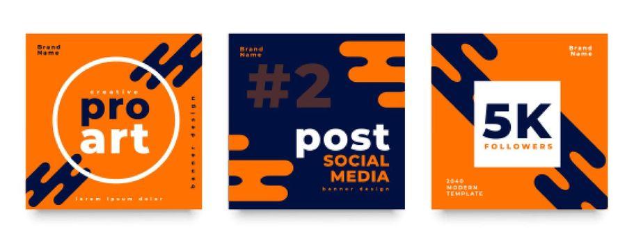 modern social media feed post design template