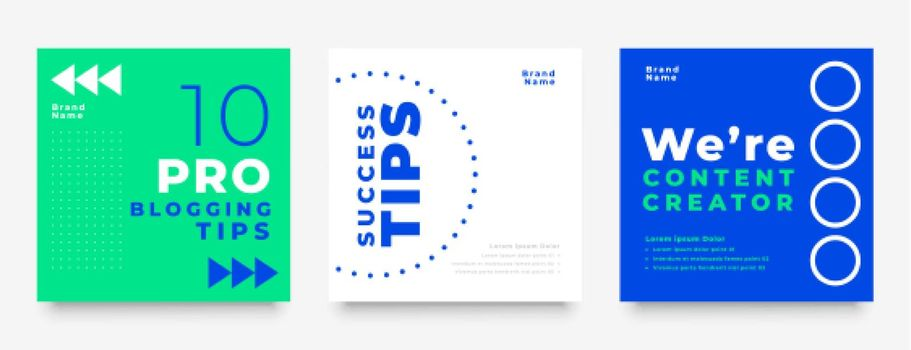 modern social media post feed collection design