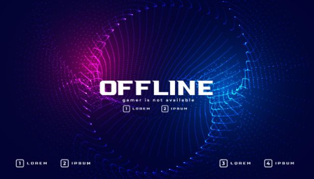 offline gaming banner in particle style