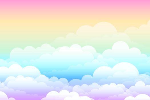 rainbow dreamy cloud fantasy background