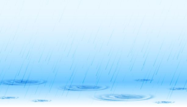 rainfall on surface with ripples background