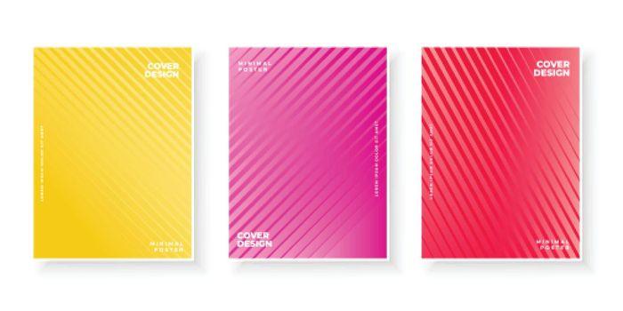 Set of minimal colorful gradient covers design