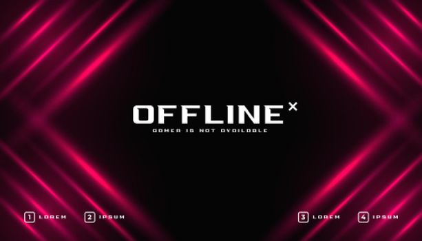 shiny offline gaming banner template