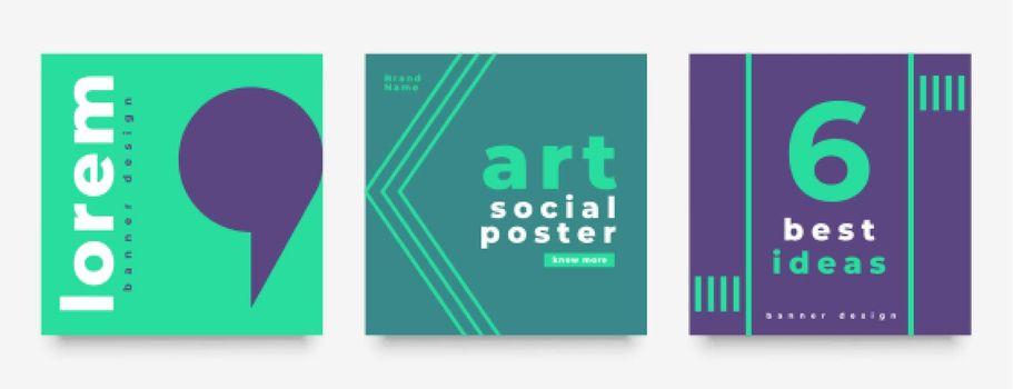 social media minimal style post template design