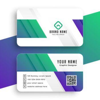 stylish business card modern template