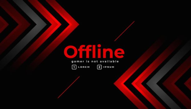 stylish offline gaming banner template