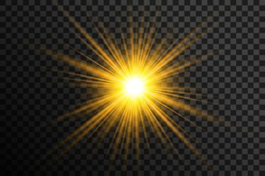 transparent glowing lens flare background