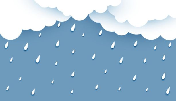 white clouds with rainfall background