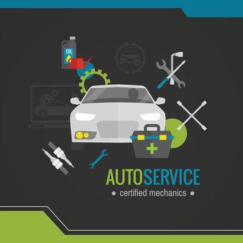 Auto Mechanic Flat Icon