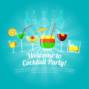 Alcohol Flat Illustration