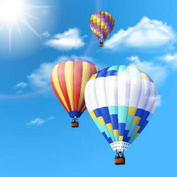 Air Balloon Background