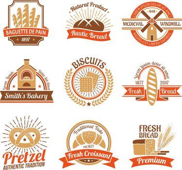 Bakery Logo Emblem Set