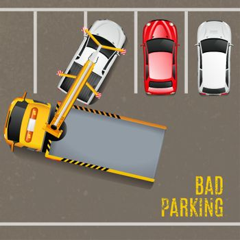 Bad Parking Top View Background