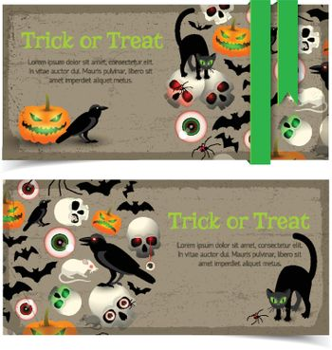Halloween Elements Banners